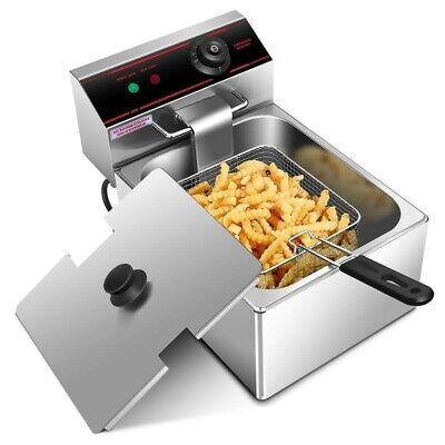 2500w 6l Commercial Single Electric Counter Top Deep Fryer Basket Scoop