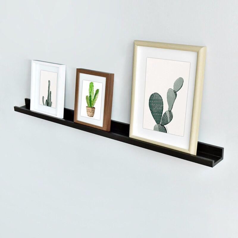 "48"" Vista Floating Shelf Wall Photo Ledge Display Decoration, Espresso Finish"
