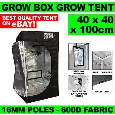 Grow Box Grow Tent 0.4 x 0.4 x 1m - 16mm Poles - 600D Fabric - Diamond Diffusion