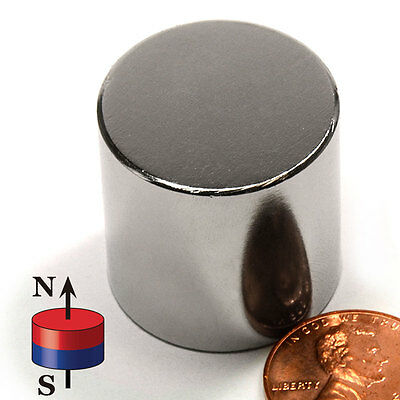 Cms Magnetics Super Strong N52 Neodymium Cylinder Magnet 1x 1 - Best Seller