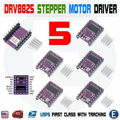 5pcs Drv8825 Stepper Motor Driver Module Heat Sink 3d Printer Reprap Stepstick