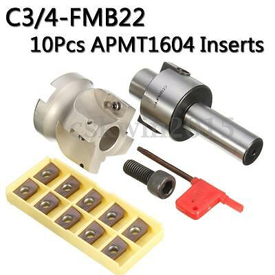 C34-fmb22 Holder Face Mill Cutter 400r-50-22 With 10pcs Apmt1604 Carbide Insert