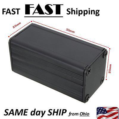 Extruded Aluminum Box Black Enclosure Electronic Project Case Pcb Diy 502525mm