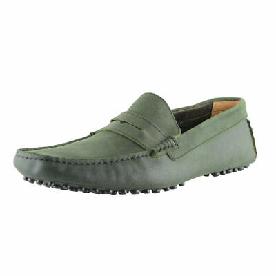 Bruno Magli Men's Green Suede Driving Moccasins Loafers Shoes Sz 7 8 9 10 11 12