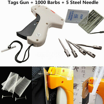 Clothing Socks Garment Price Label Tagging Tag Gun Tool 1000 Barbs5 Needles
