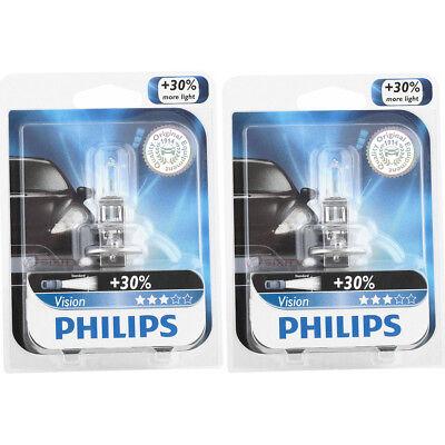 (Two Philips Vision Halogen Light Bulb H1PRB1 for H1 12258 PR 12V 55W H1XV vw)