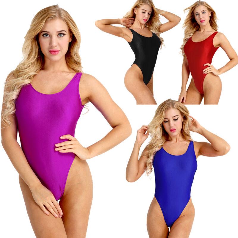 Damen Einteiliger Badeanzug Bademode String Body Bodysuit Unterwäsche Bikini