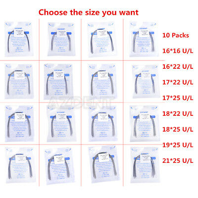 10xdental Orthodontic Stainless Steel Rectangular Arch Wires Natural Azdent Sale