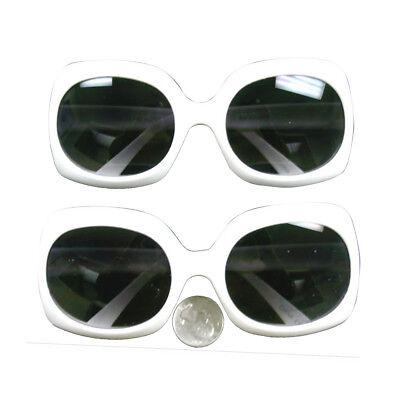 Jackie O White Rectangle Sunglasses Onassis Kennedy Mod Kurt Cobain (Jackie O Sunglasses White)