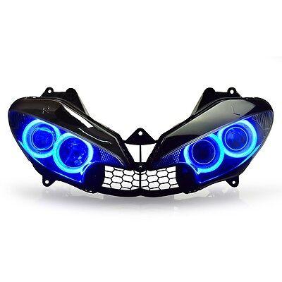 KT LED Headlight Assembly for Yamaha R6 2003 2004 2005 Blue