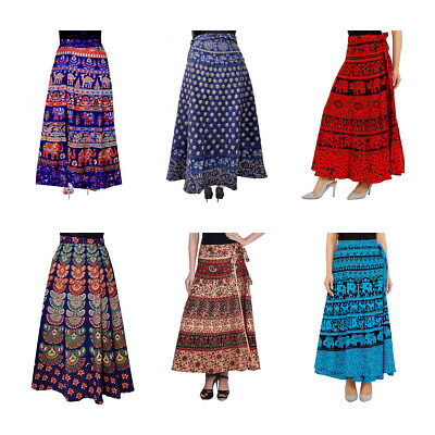 Wholesale Lot  Indian Women Long Skirts Cotton Bohemian Flamen Hippie skirts - Skirt Wholesale