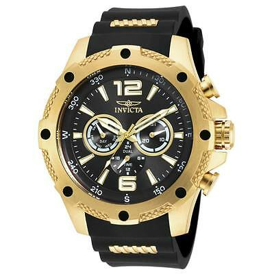 Invicta Gent's 19658 I-Force Black Dial Steel & Rubber Strap Watch