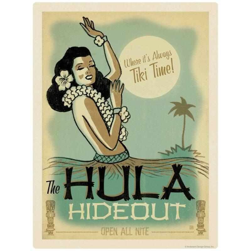 Hula Hideout Tiki Bar Hawaiian Decal Peel and Stick Decor