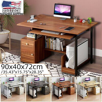 US Computer Table PC Laptop Desk Wood Workstation Study Home Writing Furniture