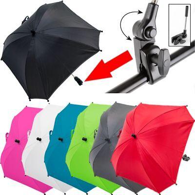 XL SONNENSCHIRM SCHIRM für Kinderwagen Buggy (UV-SCHUTZ 50+) Sonnenschutz Ø 80cm