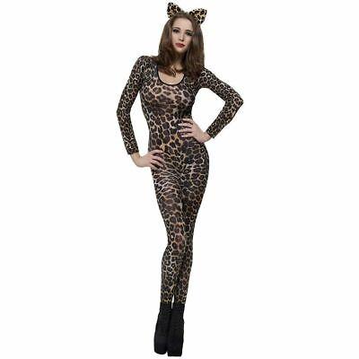 Cheetah Print Costume Bodysuit Womens Wild Cat