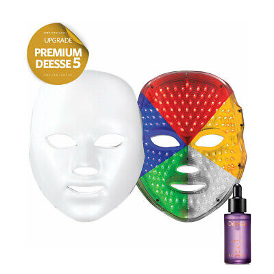 DEESSE Premium LED Face Therapy Mask Home SkinCare Beauty Device 5waves K-Beauty