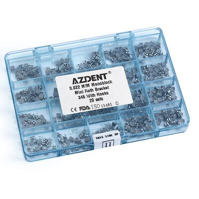 1 Box Dental Orthodontic Metal Brackets Mini Roth 022 Hooks 3 4 5 Mim Monoblock