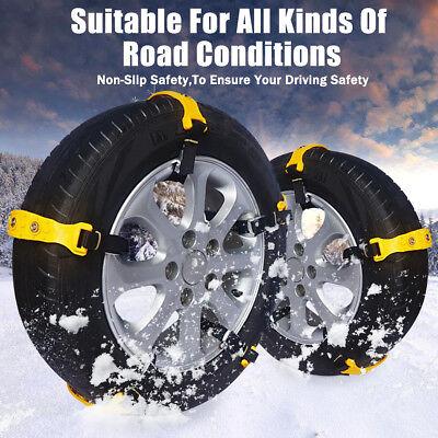 10Pcs Universal Winter Snow Mud Anti skid Tire Chains Tendon for Car Sedan SUV