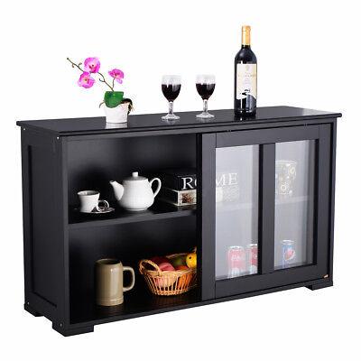 Sideboard Küchenschrank Kommode Schrank Regal Anrichte Mehrzweckschrank Schwarz