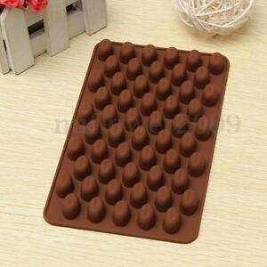 Silicone 55-Cavity Mini Coffee Beans Chocolate Sugar Candy Mold Mould Cake Decor