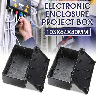 2x Plastic Electronics Enclosure Project Box Case 103x64x40mm Diy New Us