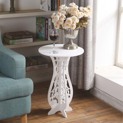 Round Side End Table Coffee Tea Table Lamp Stand Plant Rack Home Garden Balcony