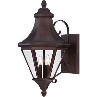 Large Savoy House Malta 3 Light Outdoor Wall Lantern in English Bronze 5-5611-13 House Large Outdoor Wall