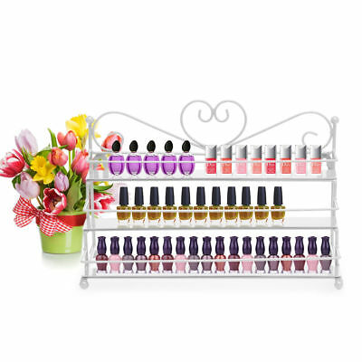 Wand-display Regal (Wandregal 3 Metall Ablagen Nagellack Aufbewahrung Display Regal Organizer weiß)