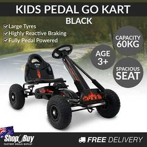 Free Delivery: Kids Pedal Go Kart - Black Homebush Strathfield Area Preview