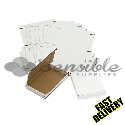 5 X C6 A6 LARGE LETTER WHITE PIP DIE-CUT POSTAL BOXES 160X110X20mm