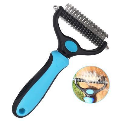 Dematting Comb Undercoat Rake Remove Mats Tangles for Cats Dog Short Long Hair