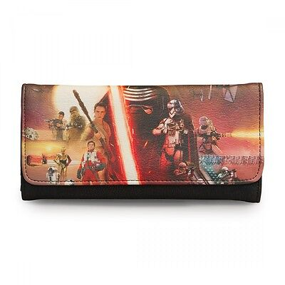 Loungefly Disney Star Wars Trifold Wallet The Force awakens NWT