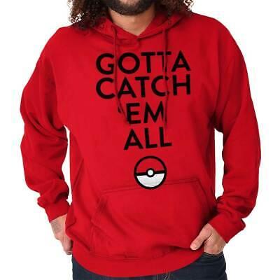 Catch Em All Video Gamer Funny Anime Gaming Hoodies Sweat Shirts Sweatshirts (Video Catcher)