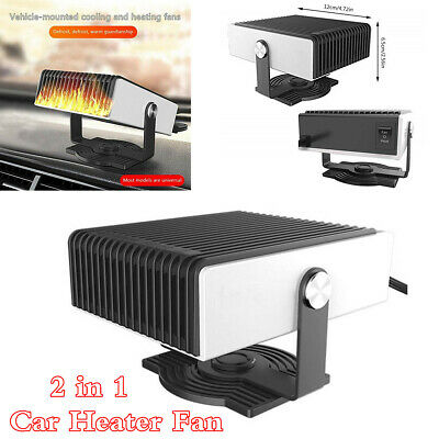 12V 150W Portable 2 in 1 Dash Car Heater Fan Windshield Screen Defrost Defogging