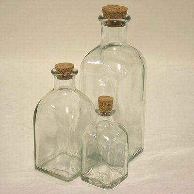 Flasche Mit Kork (12er/20er Set Glasflaschen mit Kork Flasche Vorratsglas Gewürzglas Likörflasche)