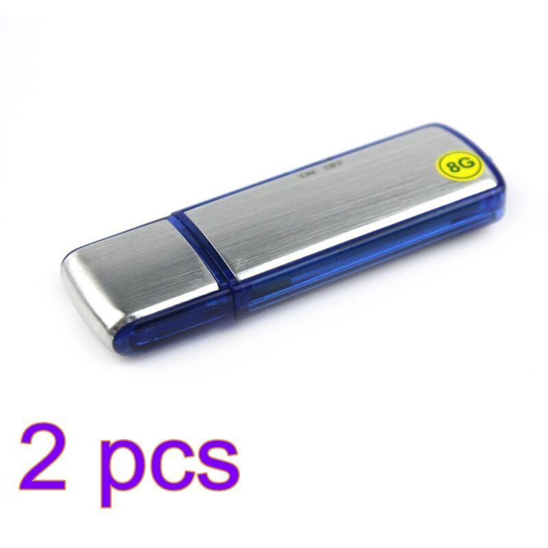2x 150hrs Recording Mini 8GB USB Disk Pen Drive Digital SPY Audio Voice Recorder