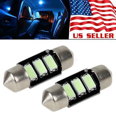 Insight Lights Accessories - 2x Ice Blue Error Free LED Bulbs 31mm Festoon Interior Light Car Accessories 12V