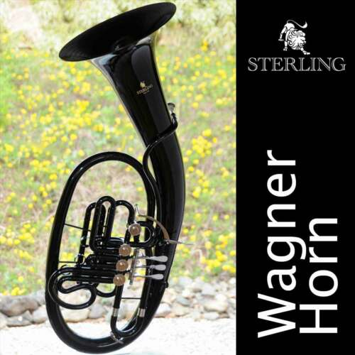 Sterling WAGNER Bb/F HORN • Black Gloss Finish • With Case • BRAND NEW • Pro