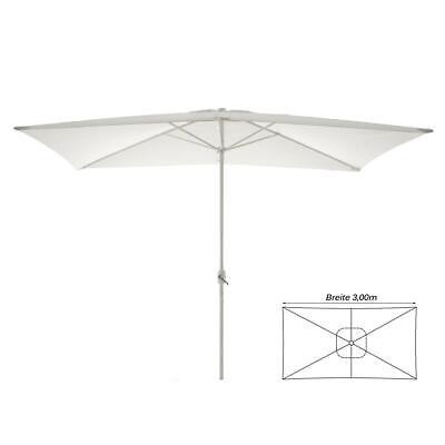 hirm rechteckig 2x3 m weiß Polyester Höhe 2,35m mit Kurbel (Weiße Sonnenschirm)
