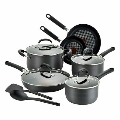 NEW - T-Fal Opticook 12-piece Anodised Cookware Set (C547SC54)