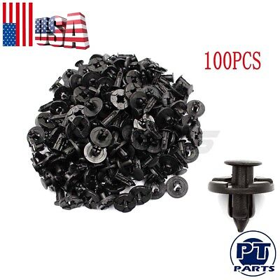 Plastic Exterior Trim - 100pcs Plastic Rivet Fastener Mud Flaps Bumper Fender Push Clips 8mm for Nissan
