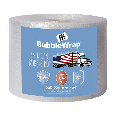 """Sealed Air Bubble Wrap 3/16"""" x 350' x 12"""" Wide Small Bubble Perf Every 12"""""""