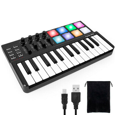 MIDI Keyboard USB Controller Synthesizer Beat Machine 8 Drum Pads Pro Software