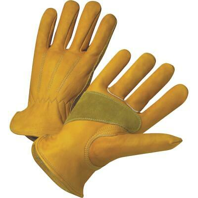 West Chester Protective Gear Mens Small Grain Cowhide Leather Work Glove