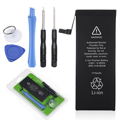 """1715mAh 3.82V Li-ion Internal Battery Replacement For Apple iPhone 6s 4.7"""" +Tool"""