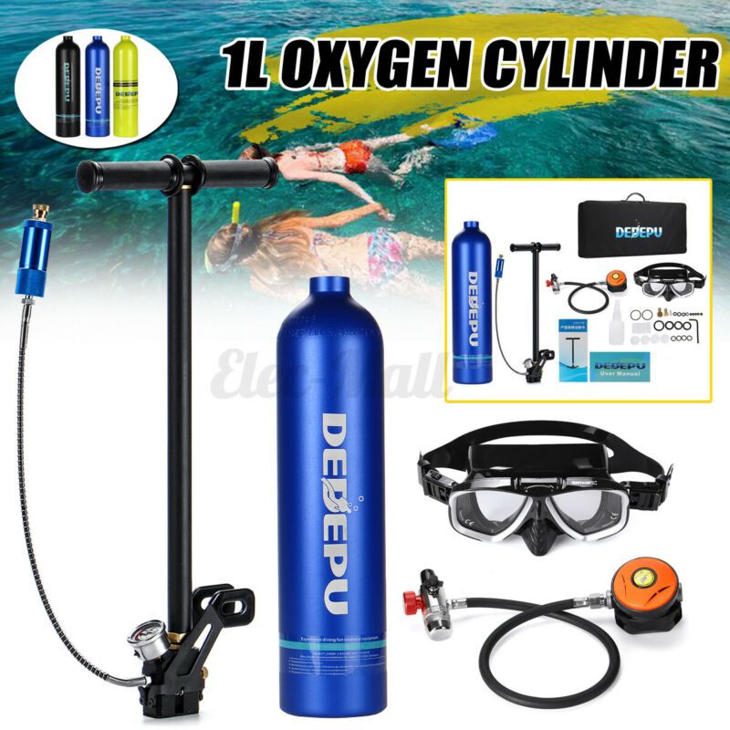 8Pc/Set Mini 1L Diving Air Tank Scuba Cylinder Underwater Breath Oxygen Tank