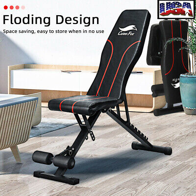 US Adjustable Workout Bench Exercise Gym Flat Incline Declin