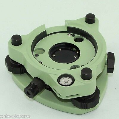 New Green Three-jaw Tribrach With Optical Plummet For Prism Total Stations