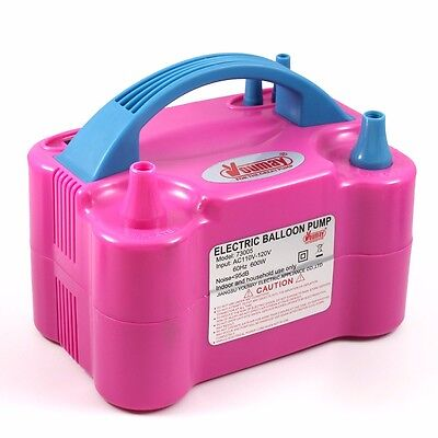 110V 600W Portable Two Nozzle Color Air Blower Electric Balloon Inflator Pump